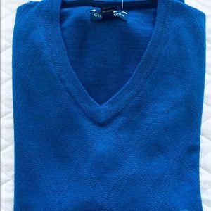 Club room merino sweater. NWT. Medium. Blue.